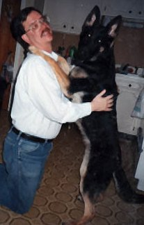 Ilsa and friend, winter of 1995