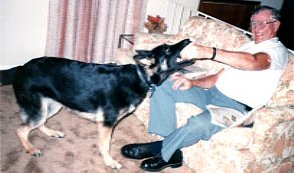 Ilsa with my father-in-law; June, 1993